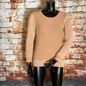 Anthropologie Sparrow Salmon Colored Sweater